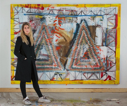 Paige Beeber '15 at Freight+Volume Gallery in New York City.