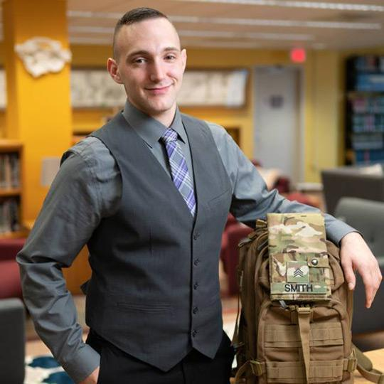 Dillon Smith '19 will serve as Military Affairs Liaison for his graduate assistantship.