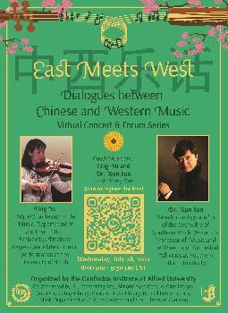 East Meets West concert series to feature violist Ling Yu, violinist Xun Sun