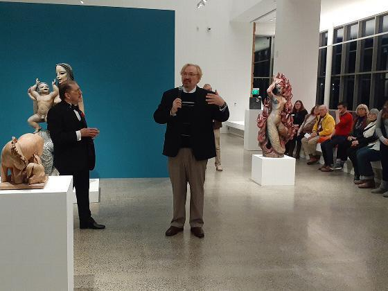 Ar historian Thomas C. Folk discusses the exhibit, joined by Wayne Higby, director of the Museum