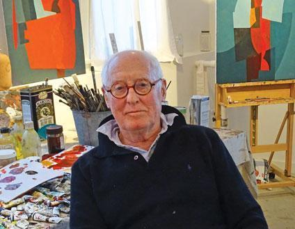 Michael McKinnell in his painting studio
