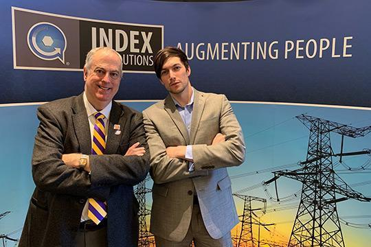 John Simmins, left, and James Mayo gave presentations at the Index AR Solutions fall retreat