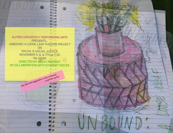 UNBOUND: A Live-Streamed Theatre Production to Open at Alfred University