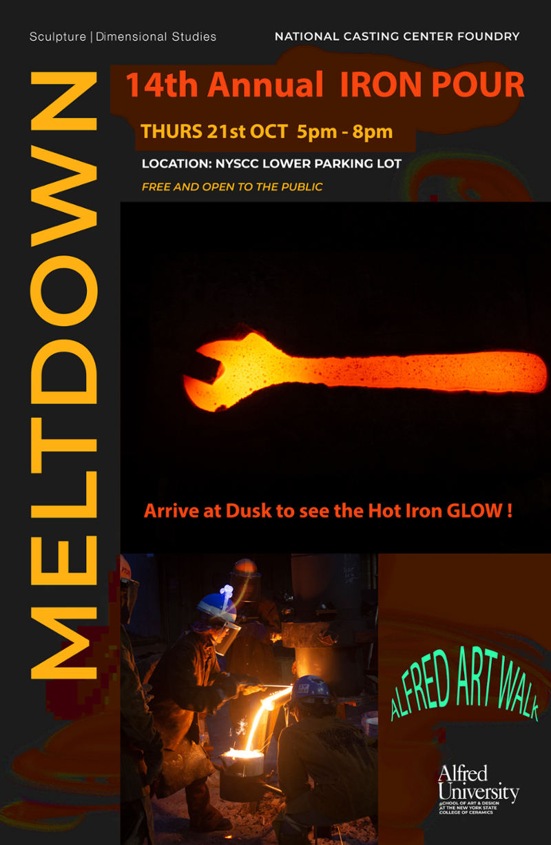 glowing iron pour poster