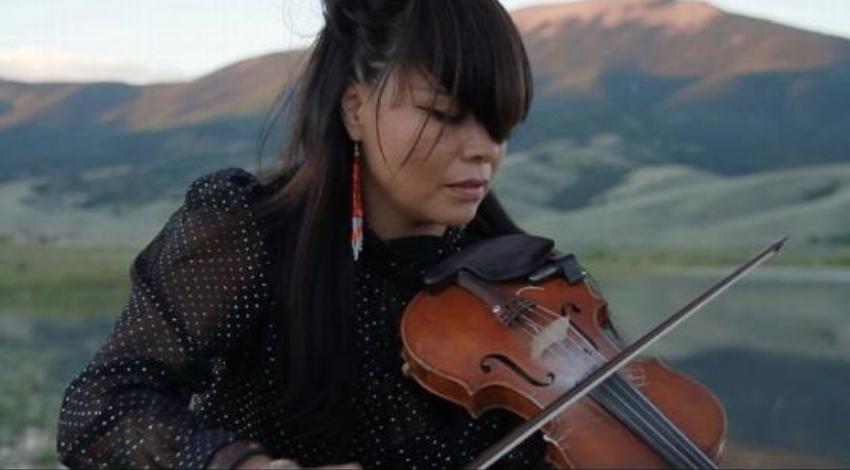 Laura Ortman Playing the Violin